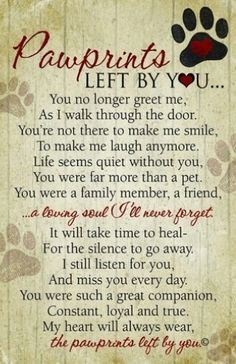 Goodbye poem, A dog and Poem on Pinterest