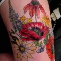 Leading Tattoo Magazine & Database, Featuring best tattoo Designs & Ideas from around the world. At TattooViral we connects the worlds best tattoo artists and fans to find the Best Tattoo Designs, Quotes, Inspirations and Ideas for women, men and couples. Sunflower Tattoo Shoulder, Sunflower Tattoo Small, Sunflower Tattoo Design, Flower Tattoo Designs, Flower Tattoos, Tattoo Floral, Botanical Tattoo, Wildflowers Tattoo, Poppies Tattoo