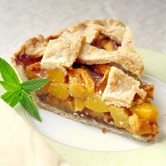 Perfect Peach Pie - Maybe not a traditional Thanksgiving choice but certainly a delicious one!