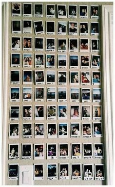 89 elegant dorm room decorating ideas - Top Of The World Decoration Bedroom, Cute Room Decor, Picture Room Decor, Wall Decor, Polaroid Wall, Polaroids, Instax Wall, Tumblr Rooms, Room Goals