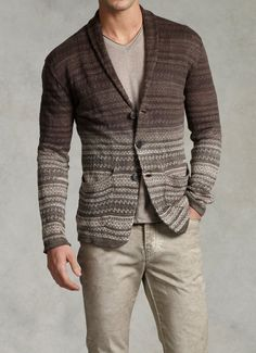 Dip Dyed Sweater Blazer