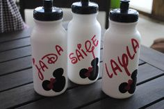 20oz Walt Disney Water Bottle Personalzied Minnie Mouse Mickey Mouse Birthday Party Favor FREE SHIPPING-mickey mouse, minnie mouse, water bottle, waterbottle, disney, birthday party, party favor