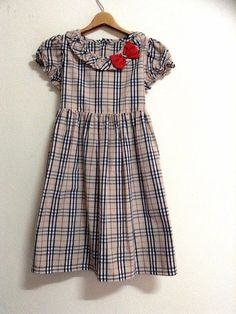 baby girl dress, children dress, kids clothes, brown plaids, toddler dress,3-4 year old on Etsy, $35.15