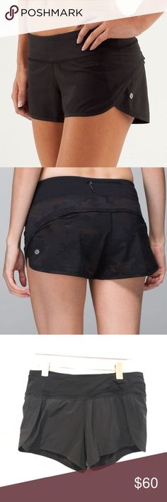 Lululemon black speed running shorts yoga Great shape! From Gal About Town blog. No trades lululemon athletica Shorts