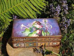 """Купить Шкатулка """"Принцесса эльфов"""" - шкатулка, шкатулка для украшений, шкатулка декупаж, шкатулка деревянная, Декупаж"""