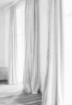 White sheer curtains with white walls incredible curtains decorating with best black white curtains ideas on . white sheer curtains with white walls White Sheer Curtains, Long Curtains, Velvet Curtains, Curtains With Blinds, Ceiling Curtains, My Living Room, Home And Living, New York Brownstone, Interior Styling