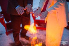 The bride and groom warm their hands by a fire at their winter wedding at Lake Placid Lodge Horse Wedding, Wedding Groom, Horse Photography, Wedding Photography, Lake Placid Lodge, Wedding Photos, Bride, Winter, Renaissance