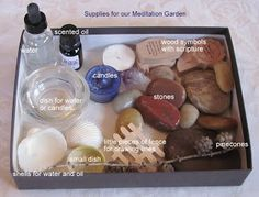 Ideas for making a meditation garden for prayer. Ideas for making a meditation garden for prayer. Christian Meditation, Meditation Prayer, Meditation Garden, Meditation Space, Lent Prayers, Spiritual Prayers, Prayer Box, Kids Prayer, Prayer Chain