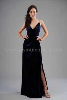 b1ad3d0f35 Jasmine B2 Style B203065 Velvet Bridesmaid Dresses