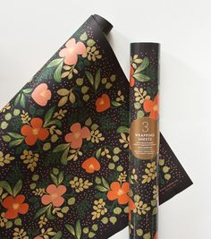Midnight Floral Wrapping Sheets by Rifle Paper Co.
