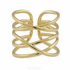 Pierścionek / tangled / złocenie