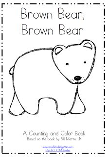 brown bear printable coloring & counting mini book freebie for Kindergarten Kindergarten Colors, Preschool Colors, Kindergarten Reading, Kindergarten Activities, Classroom Activities, Preschool Readiness, Kindergarten Freebies, Teaching Colors, Reading Activities