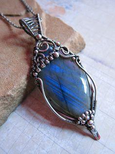 Shard of Light, wire pendant
