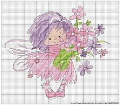 images attach c 11 128 255 Unicorn Cross Stitch Pattern, Cross Stitch Fairy, Cross Stitch Angels, Cross Stitch For Kids, Cross Stitch Needles, Cute Cross Stitch, Cross Stitch Charts, Cross Stitch Designs, Cross Stitch Patterns