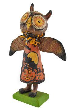 Bethany Lowe `Halloween Hoot` Paper Mache Figurine