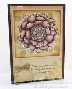 Monday Makes with Blended Blooms - coloured using Aqua Painter and Espresso ink