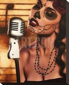 La toile tendue de Mi Cancion Reproduction par Daniel Esparza à Art.com