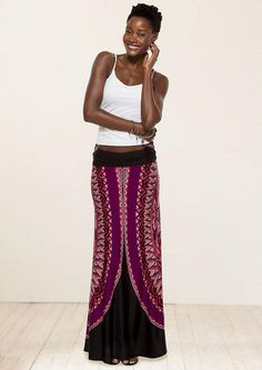 Dana Printed Maxi Skirt - Skirts - Clothing - Alloy Apparel $39.90.