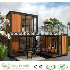 Source 20 feet WPC Prefab Container House on m.alibaba.com