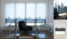 Cityscape Roller Blinds - A Made To Measure Cityscape Patterned Roller Blind!