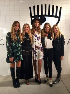 Valentina Ferragni, Giorgia Marin, Chiara Ferragni, Elisabetta Pellini and Serena Iaricci at the presentation of the new Chiara Ferragni shoes collection during the Milan Fashion Week, on September 27, 2015 in Milan, Italy.