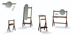 Poltrona Frau - Ren collection designed by Neri and Hu. This collection showcases beautiful elements of brass, wood and leather.