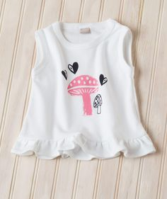 Baby Girl Mushroom Flouncy T | Hallmark Baby Clothes - Sweet looks for back to school for baby and little girls by Hallmark artist (and super mom!) Sam Lewis - exclusively for Hallmark Baby