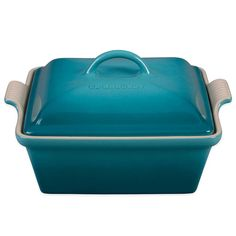LE CREUSET 2.5 qt. Covered Square Casserole Caribbean $74.99- BUY LOCAL OR WE SHIP FREE - (Compare elsewhere up to $90) - SaporiKitchen.Com