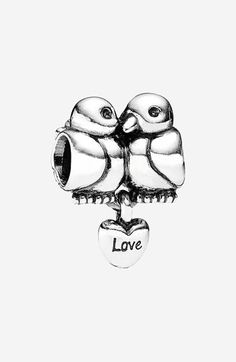 PANDORA 'Lovebirds' Heart Dangle Charm available at #Nordstrom