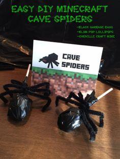 DIY Minecraft Cave Spiders, Minecraft Enderman, Minecraft, Minecraft Party…