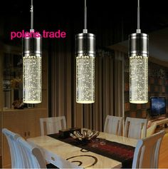 3 Lights- NEW LED Crystal Bubble Shade Ceiling Light Pendant Lamp Chandelier