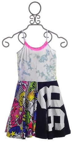 Flowers By Zoe 86 Tween Comic Book Dress $72.00