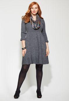 Plus Size Ruffle Hem Sweater Dress | Plus Size Dresses | Avenue