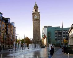 I walked through those fountains just over a month ago. I miss Belfast more than I've missed anything in my life.