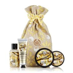 The Body Shop Festive Sack of Vanilla Marshmallow Delights Gift Set - Skincare The Body Shop, Body Shop At Home, Body Shop Christmas, Body Shop Australia, Lip Gloss Set, Cosmetics & Fragrance, Cosmetic Shop, Lip Lacquer, Packaging