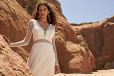 Rembo Styling, Happy Brautmoden, Boho Chic Wedding Dress, Right To Privacy, Chiffon, Wedding Dresses 2018, Elegant, Dress Collection, Marie