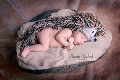 Hats – Crochet baby hat hedgehog – a unique product by Aleksandra-Design on DaWanda