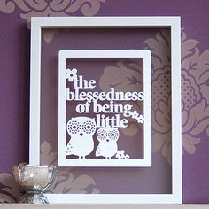 this would make a lovely gift, for a new baby, christening or just because...