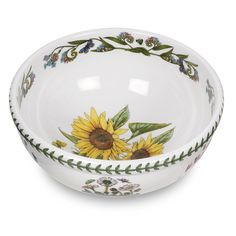 Portmeirion Botanic Garden Salad Bowl, Sunflower Motif -- Find out more about the great product at the image link. (This is an affiliate link) #HomeDecor