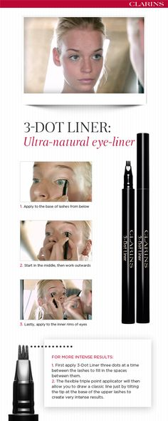 Become a make-up star with this revolutionary pen that combines the precision of liquid eye-liner with the easy writing ability of a pencil, letting you create a line dot by dot!
