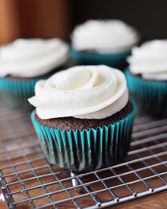 Perfect Chocolate Cupcakes -- adapted from Hershey's recipe to yield 24 w/ better dome