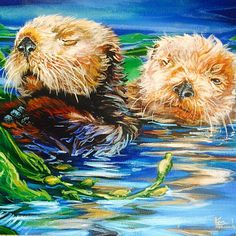 If I could choose to be one animal it would be a sea otter, like one of these guys.