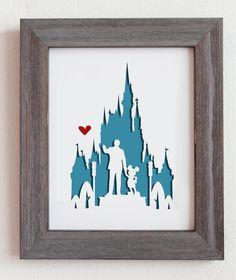 Disney World. 8x10 Personalized Gift or Wedding von Cropacature