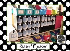 Erica Bohrer's First Grade: Student Mailboxes made out of shoe holders from Target