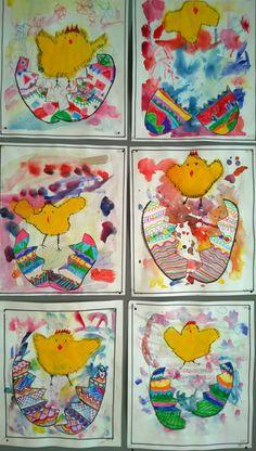yllätys Art Activities For Kids, Easter Activities, Preschool Art, Art For Kids, Winter Art Projects, Easter Projects, Spring Art, Spring Crafts, Kindergarden Art