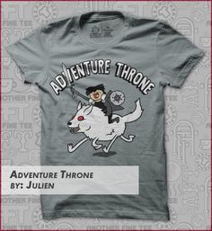 adventure_throne t-shirt designed by Julien T Shirt Time, Geek Shirts, Shirt Designs, Geek Stuff, Adventure, Tees, Mens Tops, Fashion, Geek Things