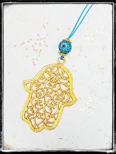 Car Accessories Protecting Hamsa Big Delicate Gold Plated Hamsa Rearview Mirror Charm. by tipatmazal on Etsy