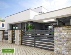 House Fence Design, Modern Fence Design, Front Gate Design, Driveway Design, Door Gate Design, Backyard Garden Design, Metal Driveway Gates, Privacy Fence Designs, Modern House Facades