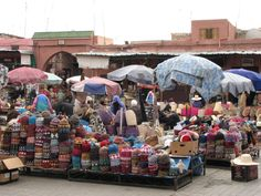 Marrakech , Maroc, Souk