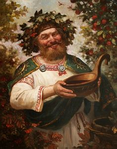 Kvasura - in Slavic mythology - God of wine. Painting by Russian artist Andrey Shishkin